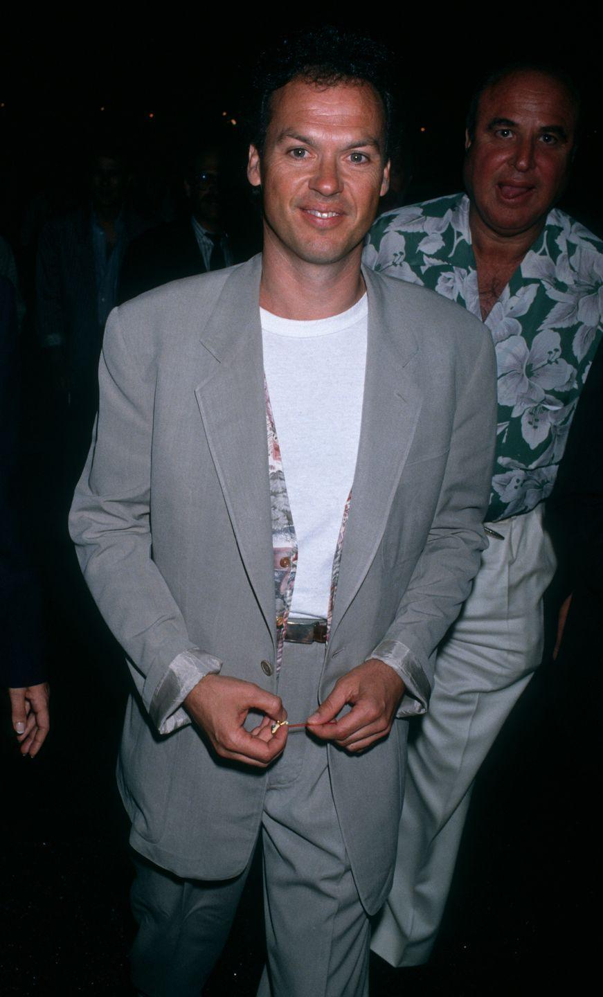 <p>Michael Keaton responded to Hollywood's bat signal and put on the cape in the '80s to portray the iconic superhero. He starred in <em>Batman </em>in 1989 and was also coincidentally dating a pre-famous Courteney Cox at the time.</p>