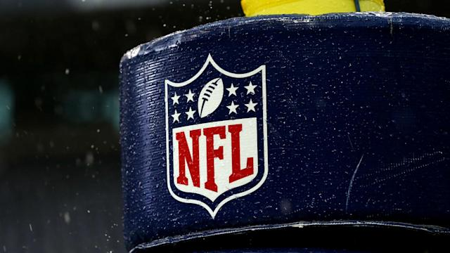 The NFL released the schedule for the first round of the playoffs before Sunday night's game ended.