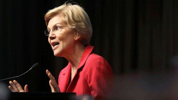 PHOTO: Democratic presidential candidate U.S. Sen. Elizabeth Warren speaks at the National Action Network's annual convention on April 5, 2019 in New York City. (Spencer Platt/Getty Images, FILE)