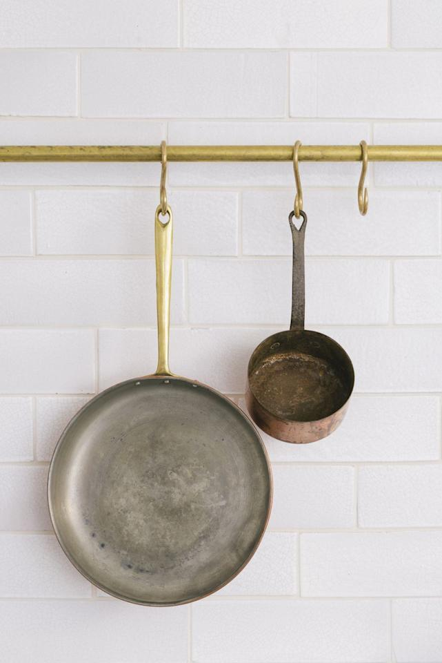 "<p>Devol's recently launched aged-brass hanging rail and butchers' hooks are simple additions to a kitchen, yet they are deceptively multitasking. They can be used at the end of an island for tea towels, above the hob to keep utensils and pans within easy reach or even along the ceiling fora creative display that maximises every inch of space. Available in five standard sizes as well as bespoke lengths, the rails are sealed with a thin wax coating to protect the finish. From £90 <a href=""https://www.devolkitchens.co.uk/"" target=""_blank"">devolkitchens.co.uk</a></p><p></p>"