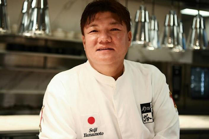 Japanese chef Seiji Yamamoto remembers the tougher times (AFP Photo/CHARLY TRIBALLEAU)