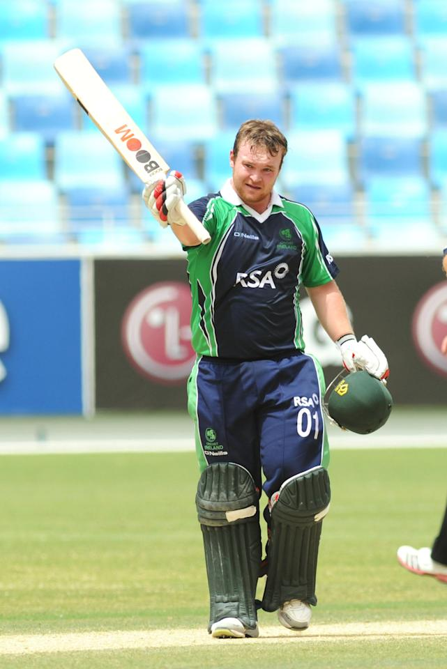 Paul Stirling (Ireland):  The Irish opening batsman was at his attacking best as he scored a tournament-leading 357 runs, including three half-centuries at an average of 44.62 and strike rate of 157.26 from 11 matches. Stirling, who scored a 38-ball 79 in the final against Afghanistan, also scored the second-fastest half-century in Twenty20 internationals in that match, off only 17 deliveries.