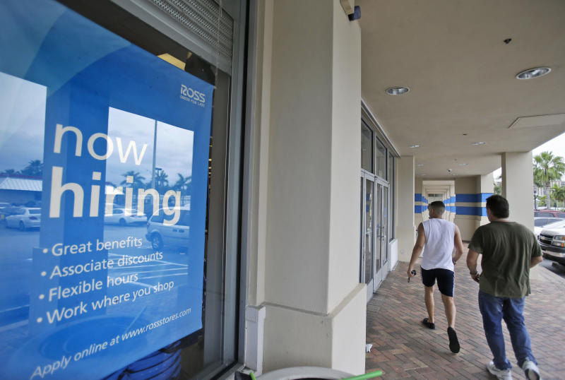Applications for US jobless aid up modestly