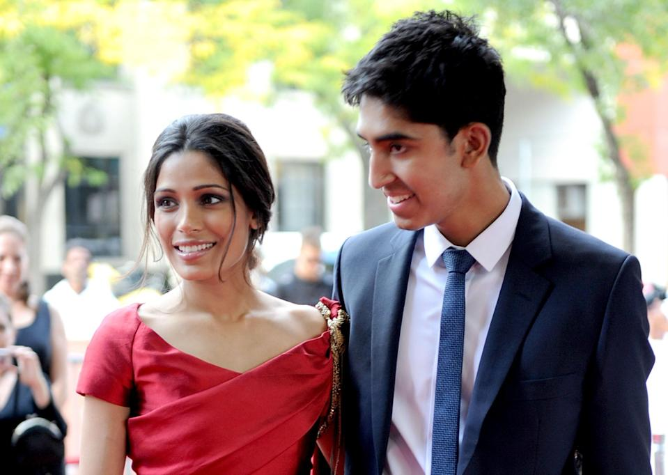 "After meeting on the set of the award-winning <em>Slumdog Millionaire</em>, Freida Pinto and Dev Patel dated for seven years before ultimately parting ways in 2014. ""You can be with someone, and it can be really good for your growth,"" she told the <a href=""https://www.dailymail.co.uk/femail/article-4390166/Freida-Pinto-reveals-split-Dev-Patel.html"" rel=""nofollow noopener"" target=""_blank"" data-ylk=""slk:Daily Mail"" class=""link rapid-noclick-resp""><em>Daily Mail</em></a> after their breakup. ""That's what Dev was for me. The seven years I was with him were so impactful."""