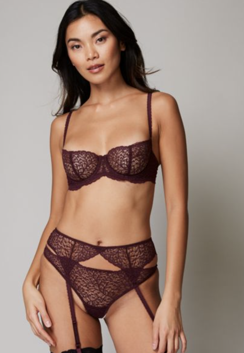 """<p><strong>Journelle</strong></p><p>Journelle</p><p><strong>$24.00</strong></p><p><a href=""""https://www.journelle.com/products/journelle-allegra-suspender-belt-129901-sale?color=1286"""" rel=""""nofollow noopener"""" target=""""_blank"""" data-ylk=""""slk:Shop Now"""" class=""""link rapid-noclick-resp"""">Shop Now</a></p><p>It's likely that you have your go-to lace bra and panties set that you know makes you feel sexy. But, for times you want to get a bit more playful with suspender belts, sexy silk pajamas, or luxurious-feeling slips that still feature universally-loved fabrics, Journelle is your luxurious go-to. </p><p>The brand features affordable pieces that feel and look like they came custom-made out of a fancy Parisian couturier. </p>"""