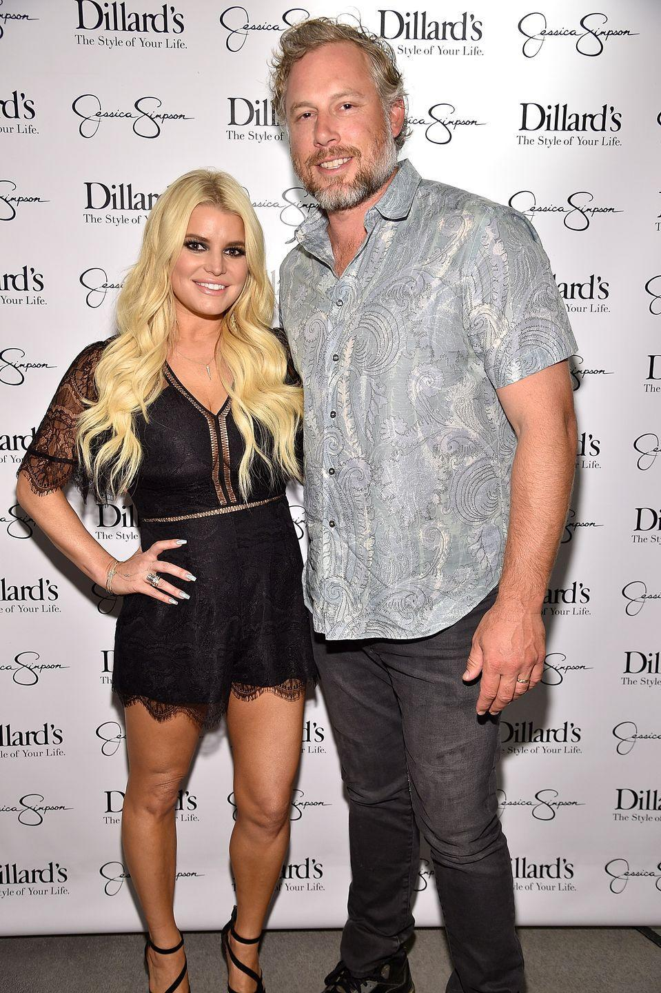 """<p>Six years after her divorce from Lachey, Simpson began dating Johnson, a retired NFL player. The two made it official in 2011. In her upcoming memoir, Simpson plans to dish on both her marriages, according to the <a href=""""https://www.harpercollins.com/9780062899965/untitled/"""" rel=""""nofollow noopener"""" target=""""_blank"""" data-ylk=""""slk:book's description"""" class=""""link rapid-noclick-resp"""">book's description</a>.</p>"""