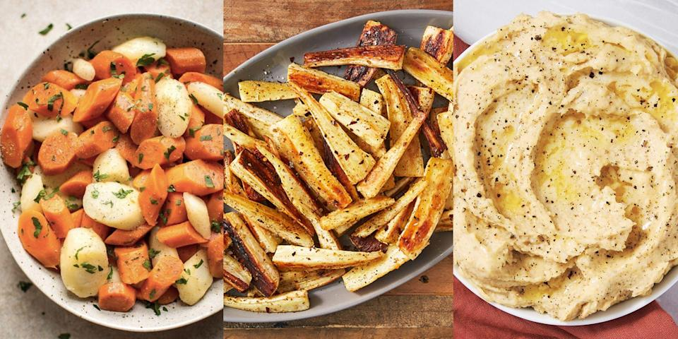 """<p>Parsnips can be <a href=""""https://www.delish.com/uk/cooking/recipes/a29871209/roast-parsnips-recipe/"""" rel=""""nofollow noopener"""" target=""""_blank"""" data-ylk=""""slk:roasted"""" class=""""link rapid-noclick-resp"""">roasted</a>, mashed and even stewed, making them one of the easiest (and tastiest) root vegetables around. When cooked well, they're perfectly sweet and tender and make the best <a href=""""https://www.delish.com/uk/cooking/recipes/g32708558/vegetarian-side-dishes/"""" rel=""""nofollow noopener"""" target=""""_blank"""" data-ylk=""""slk:side dishes"""" class=""""link rapid-noclick-resp"""">side dishes</a>. But sometimes it's easy to forget about all the other ways of cooking them... Like, have you ever tried making them in your <a href=""""https://www.delish.com/uk/cooking/recipes/g35117026/instant-pot-recipes/"""" rel=""""nofollow noopener"""" target=""""_blank"""" data-ylk=""""slk:Instant Pot"""" class=""""link rapid-noclick-resp"""">Instant Pot</a>? Or given them a go in a <a href=""""https://www.delish.com/uk/cooking/recipes/g28841001/tomato-salad/"""" rel=""""nofollow noopener"""" target=""""_blank"""" data-ylk=""""slk:salad"""" class=""""link rapid-noclick-resp"""">salad</a>? Well, we've rounded up the best parsnip recipes for you to make up ASAP. </p>"""