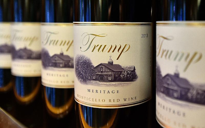 The Trump brand, found on casinos, steaks, shirts and even wine, has been a major selling point for the Republican presidential nominee, and could end up damaged by his divisive campaign (AFP Photo/Josh Edelson)