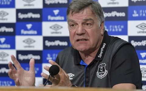 <span>Allardyce insists the survey has not affected his future</span> <span>Credit: EVERTON FC </span>