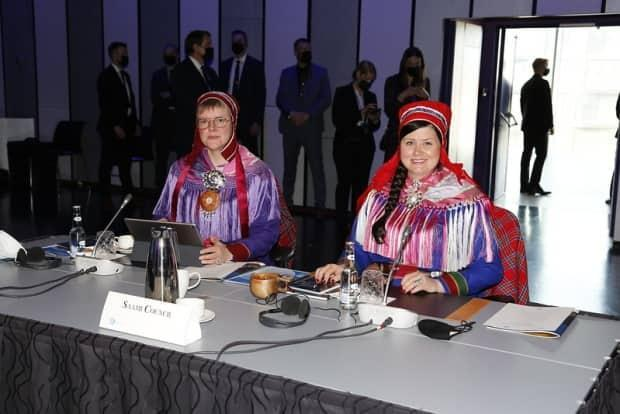 Members of the Saami Council at the 12th Arctic Council Ministerial Meeting. One of the projects highlighted in the four briefing to media and other observers was the Kola Waste Project, an initiative to help clean up garbage from remote Saami communities.