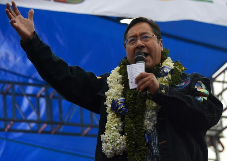 Socialist candidate Arce riding on Morales popularity