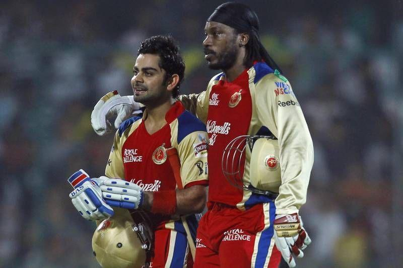 Virat Kohli and Chris Gayle