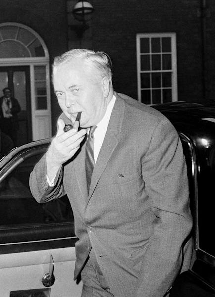 FILE - In this Jan. 9, 1969 file photo British Prime Minister Harold Wilson arrives at the Commonwealth Prime Ministers Conference for the third day of the conference, at Marlborough House, London, Jan. 9, 1969. Prime Ministers come and go, but News Corp. chief Rupert Murdoch stays and stays and stays. Murdoch has played a key role in shaping political British political coverage for the last four decades, and testimony at the Leveson inquiry into media ethics has highlighted how prime ministers have both courted and feared the 81-year-old media mogul. (AP Photo/Dennis-Lee Royle, file)