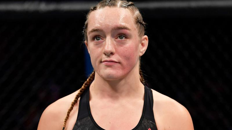UFC fighter Aspen Ladd, pictured after a loss to Germaine de Randamie in July, has had her license suspended after a troubling weigh-in.