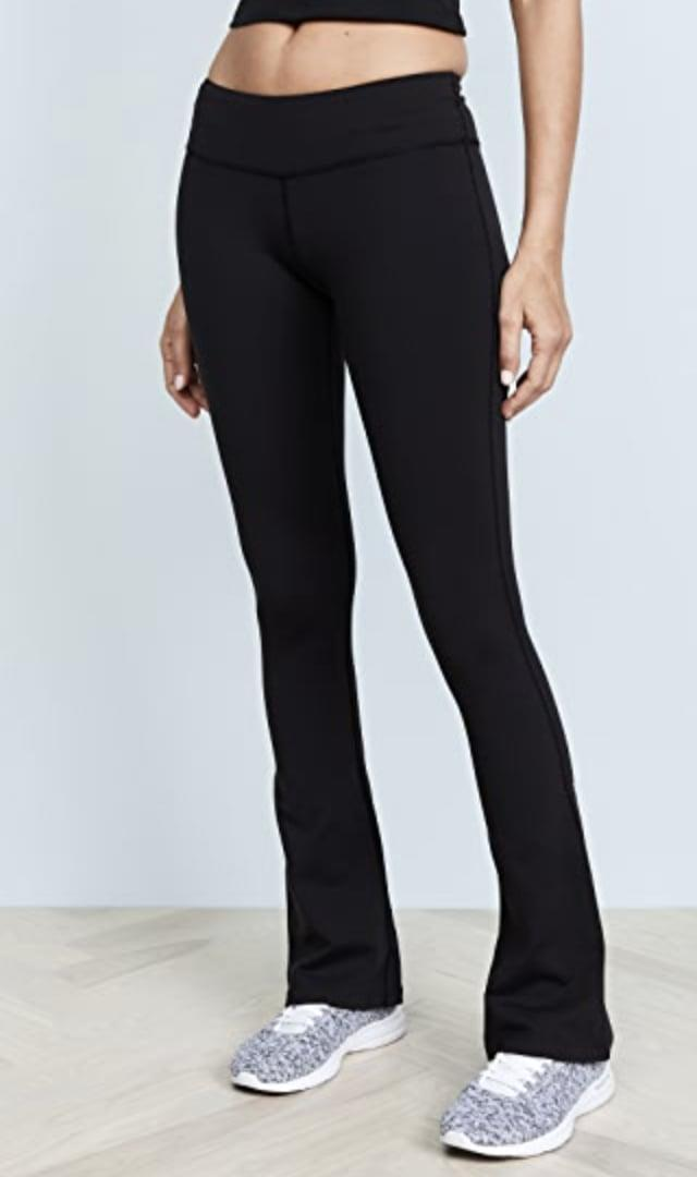 <p>These low-rise <span>Splits59 Raquel Flare Performance Leggings</span> ($98) have a narrower leg, flaring mid-calf.</p>