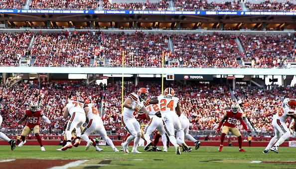 The Cleveland Browns were bad on offense Monday night. (Getty Images)