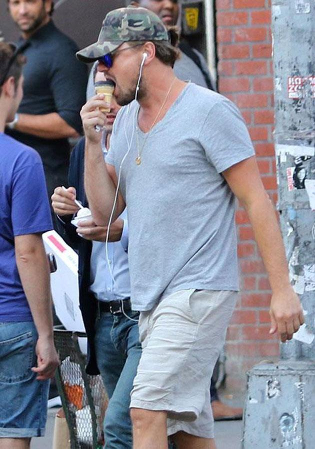 Leo enjoyed a sweet treat last month in NYC. Source: MEGA