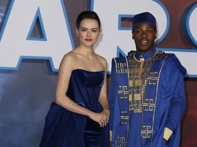 John Boyega steps out in traditional Nigerian dress for Star Wars premiere