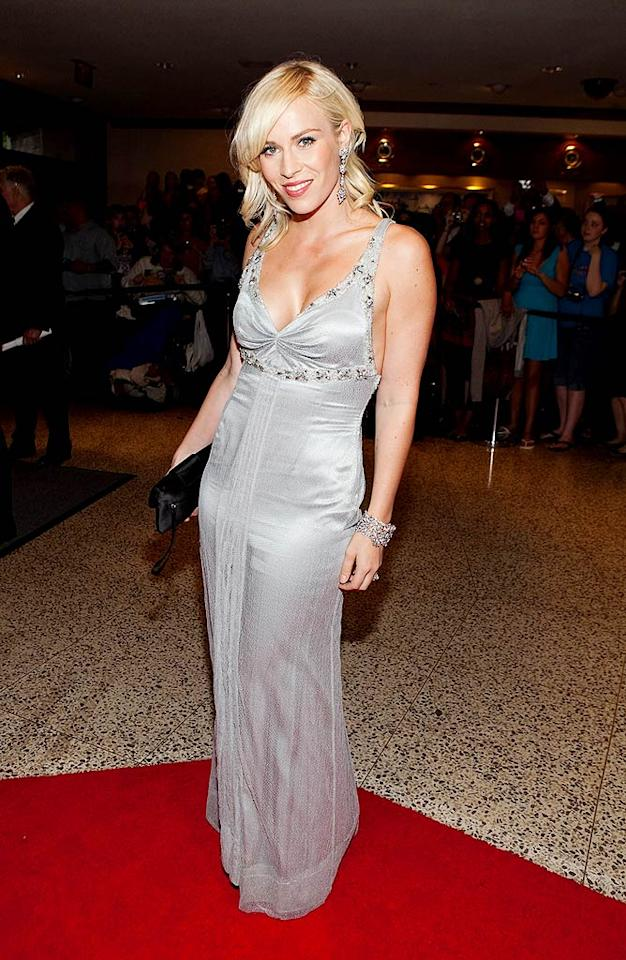 "Natasha Bedingfield dazzled in a sparkling silver dress. Paul Morigi/<a href=""http://www.wireimage.com"" target=""new"">WireImage.com</a> - May 9, 2009"
