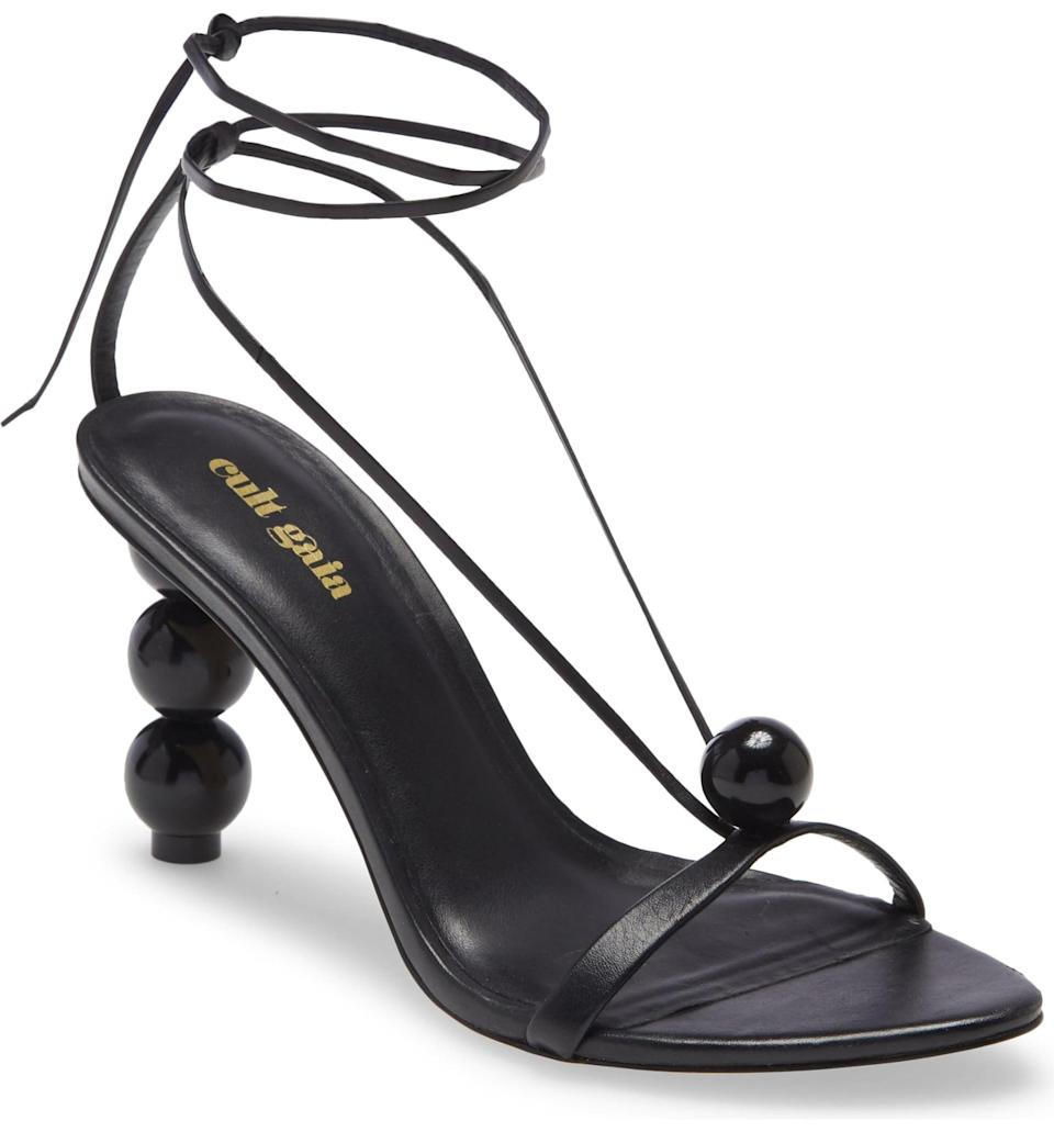 <p>This <span>Cult Gaia Karina Strappy Sandal</span> ($438) is uniquely beautiful. </p>