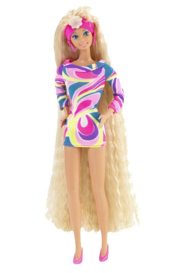 "<p>Totally Hair Barbie lets little hands get extra-creative with hair styling. Not only did she have extra-long hair, she also came with a tube of Dep gel! Perhaps this is why she became the <a href=""http://barbie.wikia.com/wiki/Totally_Hair_Barbie"" rel=""nofollow noopener"" target=""_blank"" data-ylk=""slk:best-selling Barbie in Mattel history"" class=""link rapid-noclick-resp"">best-selling Barbie in Mattel history</a>. </p><p><a href=""http://www.goodhousekeeping.com/beauty/hair/g3725/90s-hair-accessories/"" rel=""nofollow noopener"" target=""_blank"" data-ylk=""slk:The top hair accessories of the '90s »"" class=""link rapid-noclick-resp""><em>The top hair accessories of the '90s »</em></a></p>"