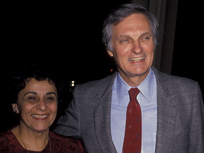 Alan Alda and Arlene Weiss