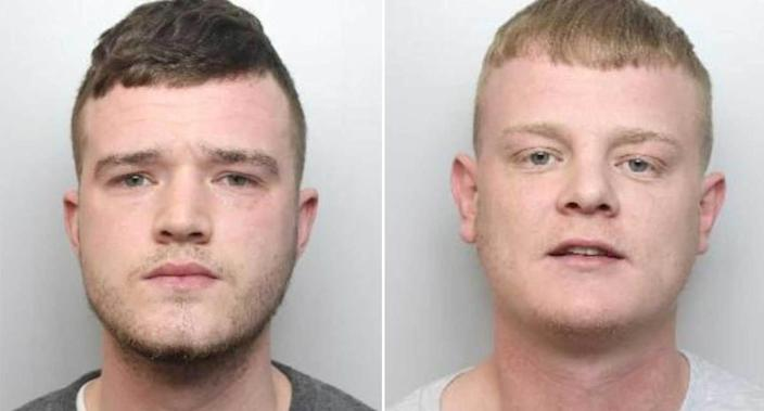 Stephen Dunford, right, fired a shotgun from the passenger seat of a car as it drove past the boy. Brandon Bailey, left, was also found guilty of conspiracy to possess a firearm. (PA)