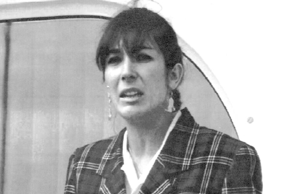 """FILE - In this Nov. 7, 1991, file photo Ghislaine Maxwell, daughter of late British publisher Robert Maxwell, reads a statement in Spanish in which she expressed her family's gratitude to the Spanish authorities, aboard the """"Lady Ghislaine"""" in Santa Cruz de Tenerife. Maxwell, a British socialite who was accused by many women of helping procure underage sex partners for Jeffrey Epstein, was arrested in New Hampshire, the FBI said Thursday, July 2, 2020. (AP Photo/Dominique Mollard, File)"""