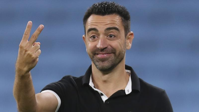Xavi loses his shoe in sideline rant during managerial debut for Al Sadd