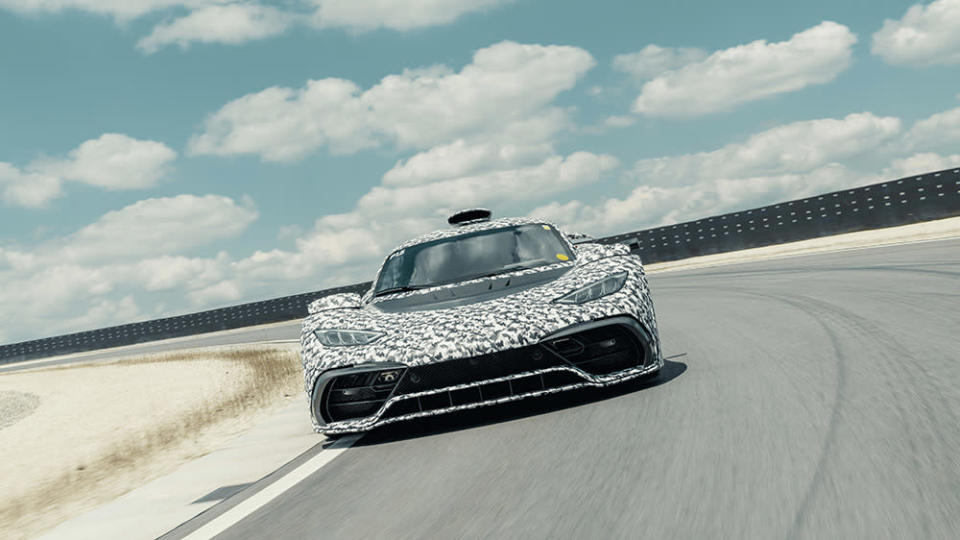 A Mercedes-AMG One prototype undergoing testing in 2019 - Credit: Mercedes-AMG