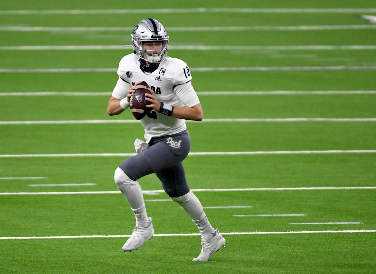 Nevada quarterback Carson Strong was a breakout star in 2020 and could end up a high draft pick in 2022. (Photo by Ethan Miller/Getty Images)