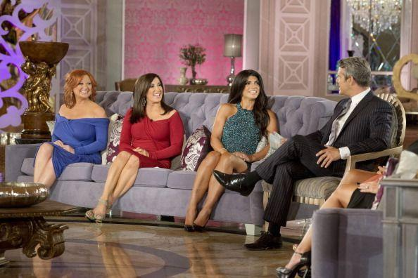 """<p>The reunion seating arrangements are as carefully choreographed as the New York City Ballet. Just ask <em>Real Housewives of New Jersey </em>star Danielle Staub, who refused to leave her dressing room unless she was sat next to <a href=""""https://www.bravotv.com/the-real-housewives-of-new-jersey"""" rel=""""nofollow noopener"""" target=""""_blank"""" data-ylk=""""slk:Andy on season 10's reunion"""" class=""""link rapid-noclick-resp"""">Andy on season 10's reunion</a>. In reality, it's the <a href=""""https://realityblurb.com/2018/09/28/bravos-andy-cohen-reveals-how-they-decide-which-real-housewives-to-fire-plus-find-out-who-pays-for-cast-trips-and-how-reunion-seating-gets-decided/"""" rel=""""nofollow noopener"""" target=""""_blank"""" data-ylk=""""slk:women with the biggest storylines"""" class=""""link rapid-noclick-resp"""">women with the biggest storylines</a> that go next to Andy, and the rest are arranged based on who is fighting. </p>"""