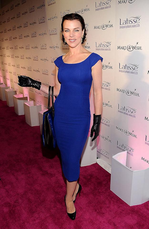 """Debi Mazar rocked the magenta carpet in a sexy bright blue frock, which she paired with leather driving gloves. Jordan Strauss/<a href=""""http://www.wireimage.com"""" target=""""new"""">WireImage.com</a> - March 26, 2009"""