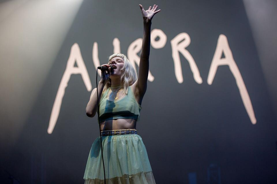 """Norwegian singer Aurora performing at the Neon Lights Festival at Fort Canning Park on 24 November. See more pictures: <a href=""""https://bit.ly/2tYol1O"""" rel=""""nofollow noopener"""" target=""""_blank"""" data-ylk=""""slk:https://bit.ly/2tYol1O"""" class=""""link rapid-noclick-resp"""">https://bit.ly/2tYol1O</a> (PHOTO: Dhany Osman / Yahoo Lifestyle Singapore)"""