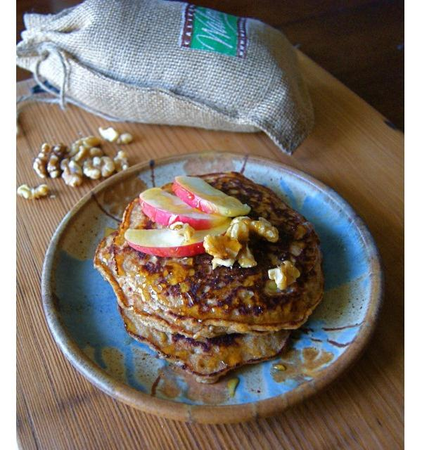 High Protein Vegetarian Meals Grain-Free Apple Walnut Pancakes