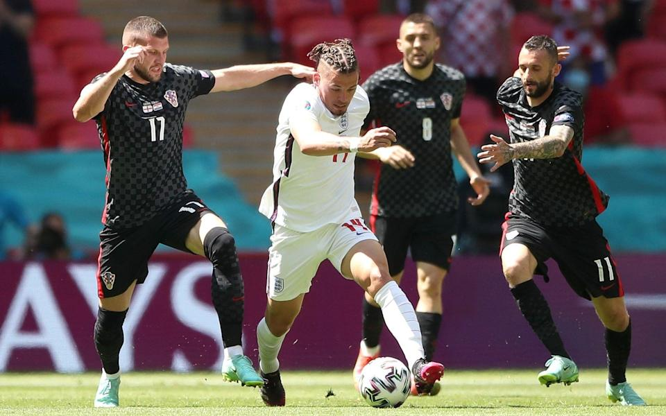 Kalvin Phillips was among England's most threatening players in the opening 20 minutes - PA