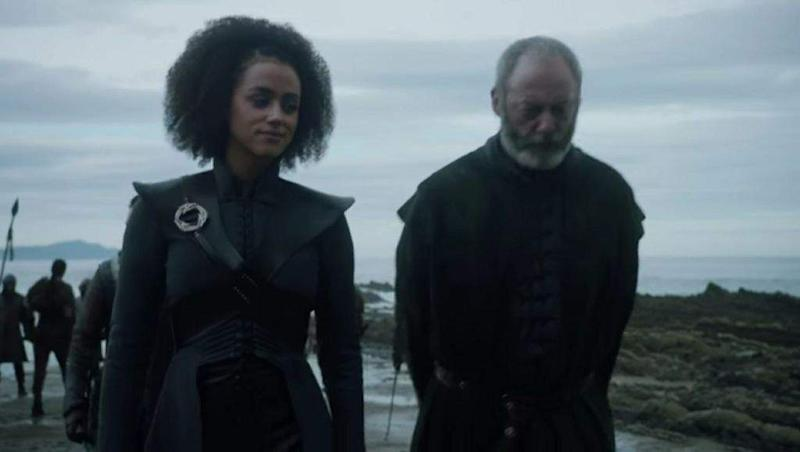 Ser Davos Seaworth and Missandei of Naath (Credit: HBO)