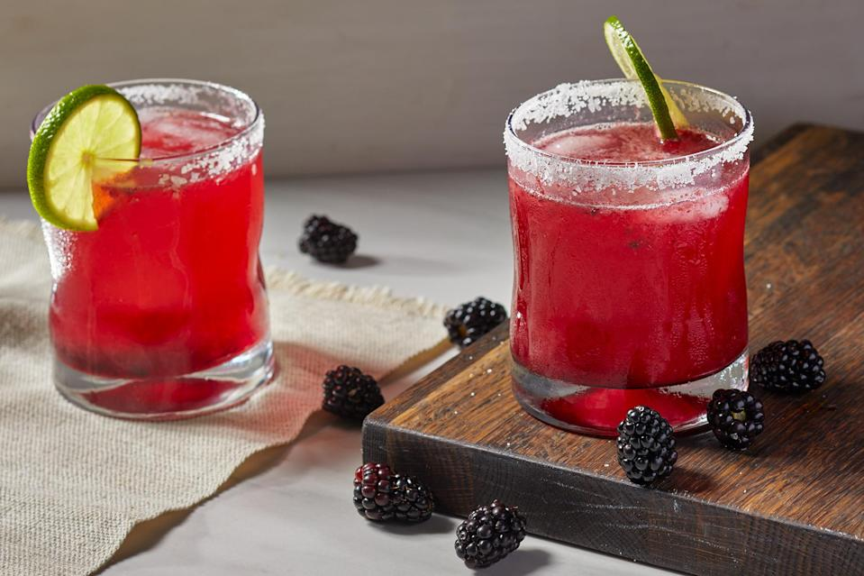 <p>This vibrant blackberry margarita is filled with fresh berry flavor. Pureeing the fresh blackberries with a little jam gives the drink additional sweetness without having to make a simple syrup. Diluting with the lime-flavored sparkling water adds a nice effervescence.</p>