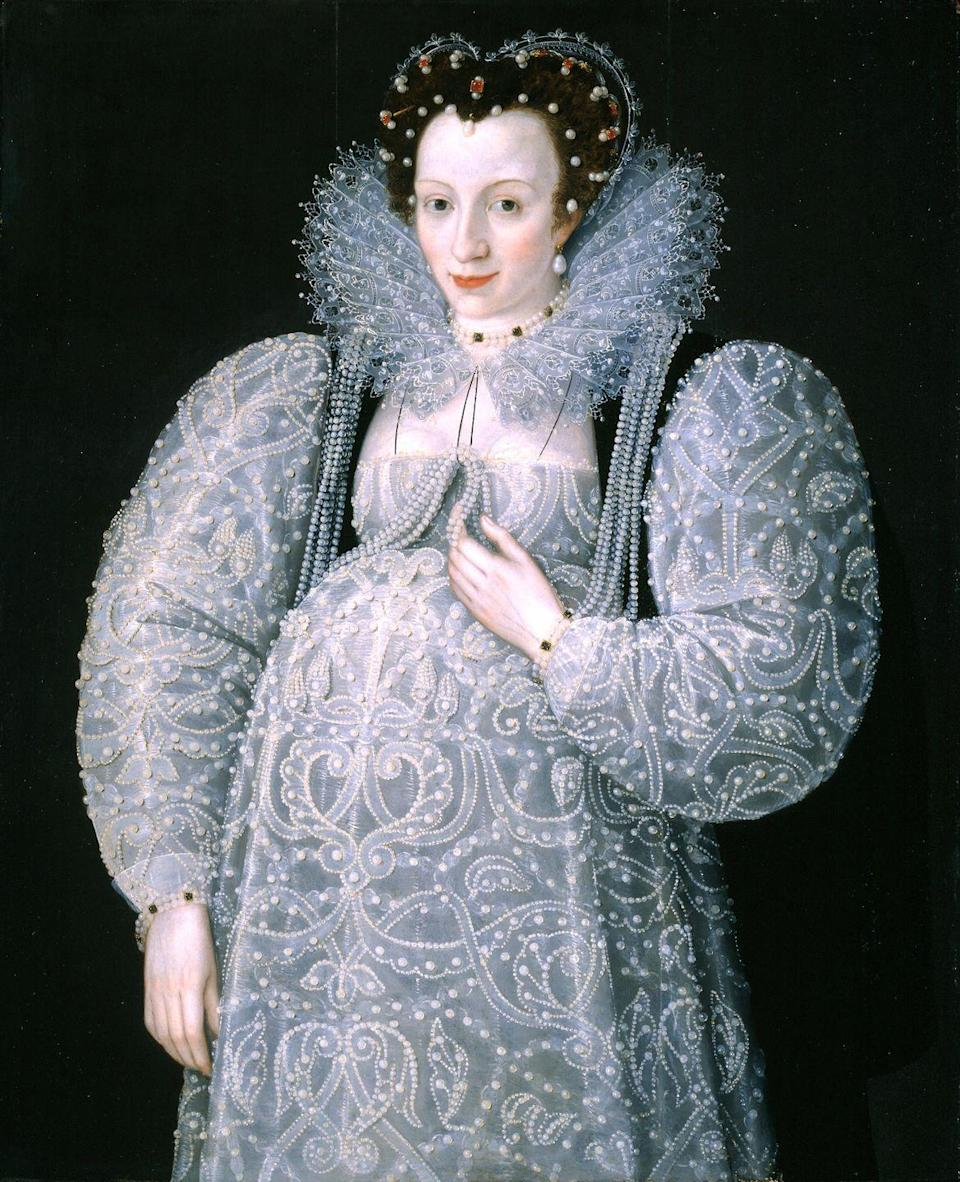 "<p>The first recorded maternity gown came about in the Baroque period and was called the ""Adrienne,"" which featured an empire waist.</p>"