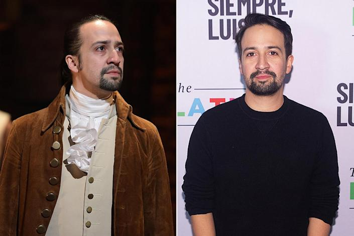 """<p>The <a href=""""https://people.com/movies/lin-manuel-miranda-movies-roles-through-the-years/"""" rel=""""nofollow noopener"""" target=""""_blank"""" data-ylk=""""slk:creator, writer and composer"""" class=""""link rapid-noclick-resp"""">creator, writer and composer</a> who played Alexander Hamilton has not slowed down since the show's debut in 2015. He voiced Fenton Crackshell-Cabrera/Gizmoduck on <em>DuckTales</em> (2017), played Jack The Lamplighter in <em>Mary Poppins Returns</em> (2018), alongside Emily Blunt, played Piragüero in the movie adaptation of his first musical hit <em>In The Heights</em> and composed and voiced Vivo in the Netflix animated film of the same name (2021). He's also written the music for the upcoming Disney film <a href=""""https://www.youtube.com/watch?v=togmdDHG3Pw&t=1s"""" rel=""""nofollow noopener"""" target=""""_blank"""" data-ylk=""""slk:Encanto"""" class=""""link rapid-noclick-resp""""><em>Encanto</em></a>, which is set to hit theaters on Nov. 24.</p> <p>While he continues to write his way into Broadway and cinematic history, he's also dad to sons Sebastian, 7, and Francisco, 3, with wife Vanessa Nadal.</p>"""