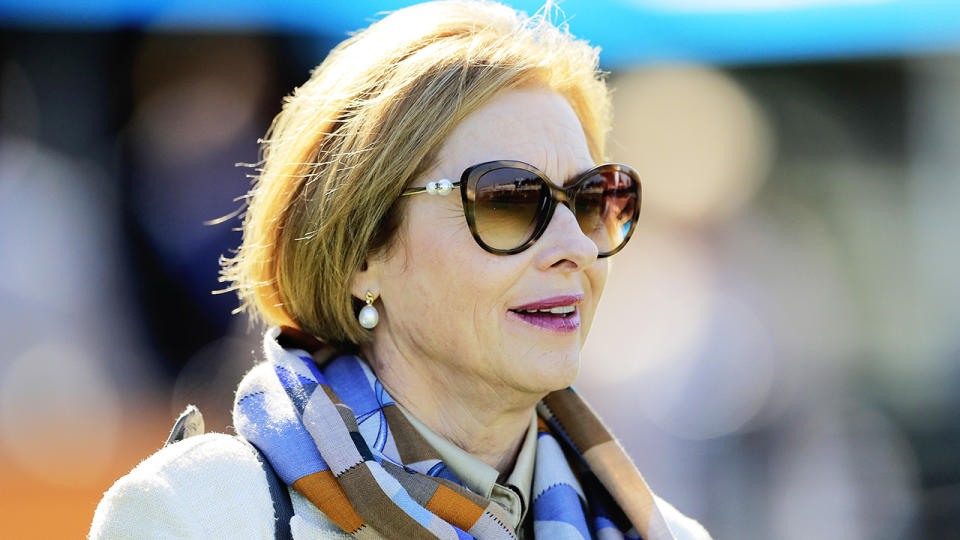 Leading horse trainer Gai Waterhouse is pictured.