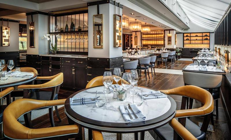 The hotel's Coburg brasserie serves contemporary Irish cuisine (Conrad Dublin)