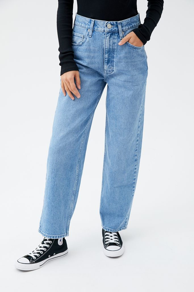 """<br><br><strong>BDG</strong> Petite High-Waisted Baggy Jean – Medium Wash, $, available at <a href=""""https://go.skimresources.com/?id=30283X879131&url=https%3A%2F%2Fwww.urbanoutfitters.com%2Fshop%2Fbdg-petite-high-waisted-baggy-jean-medium-wash%3Fcategory%3Djeans-for-women%26color%3D093%26type%3DREGULAR%26quantity%3D1"""" rel=""""nofollow noopener"""" target=""""_blank"""" data-ylk=""""slk:Urban Outfitters"""" class=""""link rapid-noclick-resp"""">Urban Outfitters</a>"""