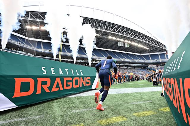 A part-time concessions vendor who worked a Seattle Dragons game last month has tested positive for COVID-19. (Rod Mar/XFL/Getty Images)