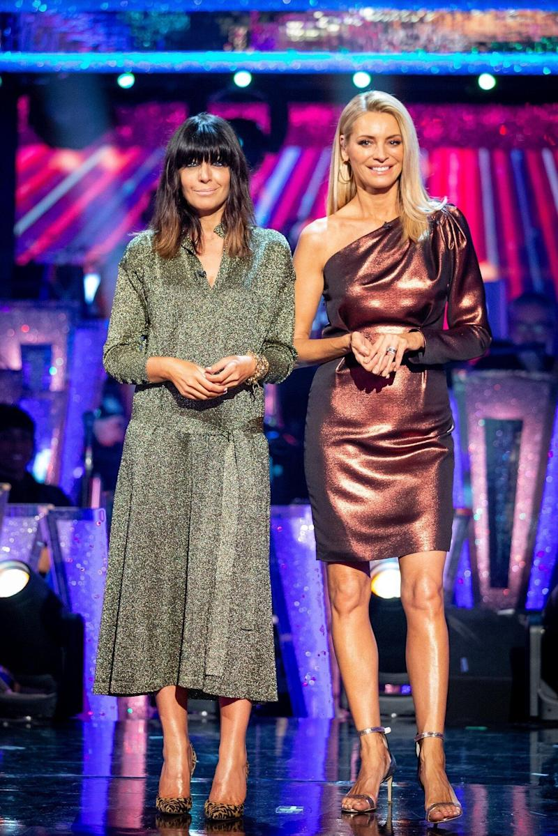 Claudia hosts Strictly Come Dancing with Tess Daly (Photo: BBC / Guy Levy)