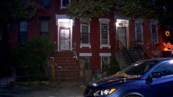 PHOTO: Scene in Brooklyn, New York where an Indiana University student was killed by a stray bullet while sitting on the stoop, Oct. 24, 2020. (WABC)