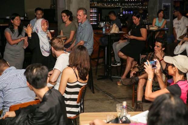 During Science Cafe KL, audience can engage directly with speakers, promoting dynamic, two-way interactions with the public. — Picture by Choo Choy May
