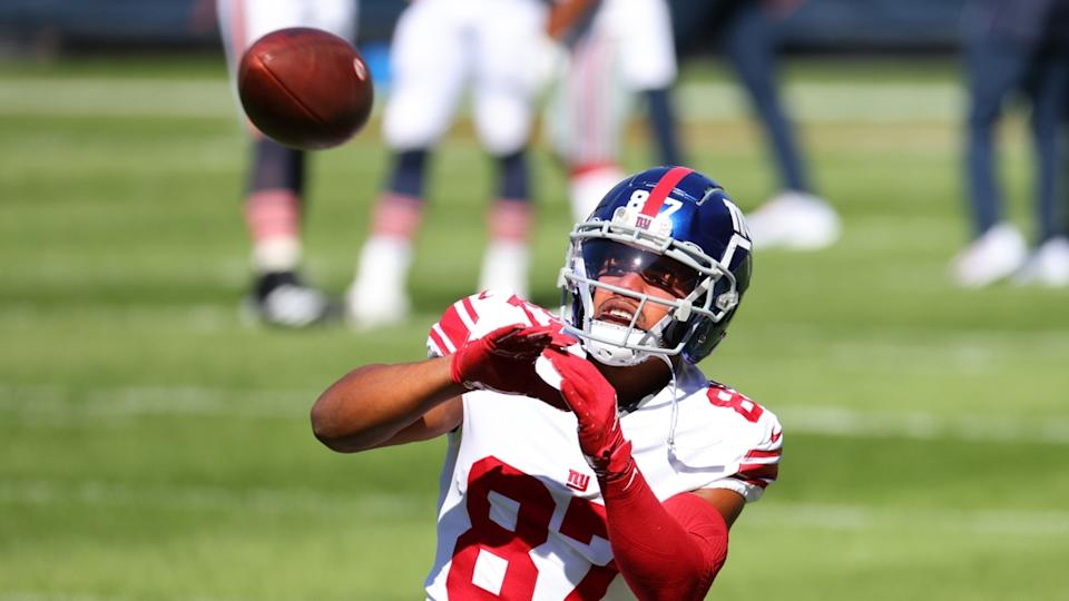 Sterling Shepard catches ball against Bears
