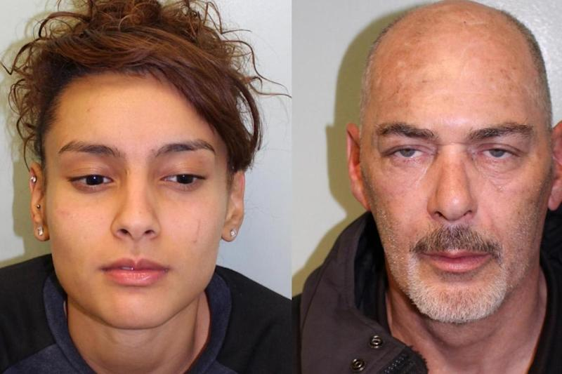 Gang members: Heena Bux and Geoffrey Cairns. Met Police car theft gang (Met Police)