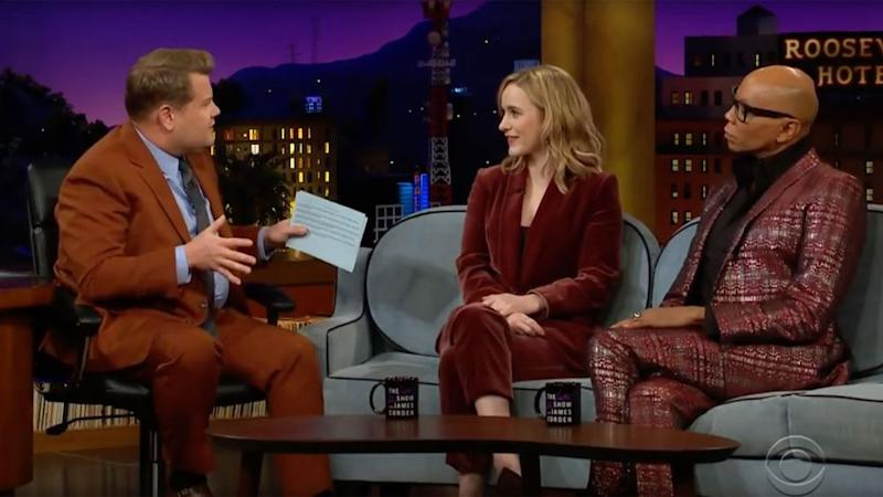 James Corden, RachelBrosnahan and RuPaul Charles | The Late Late Show with James Corden/ Youtube